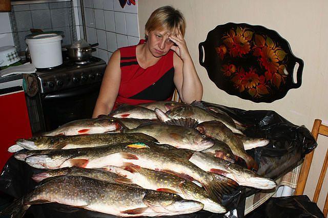ловля рыбы в обед